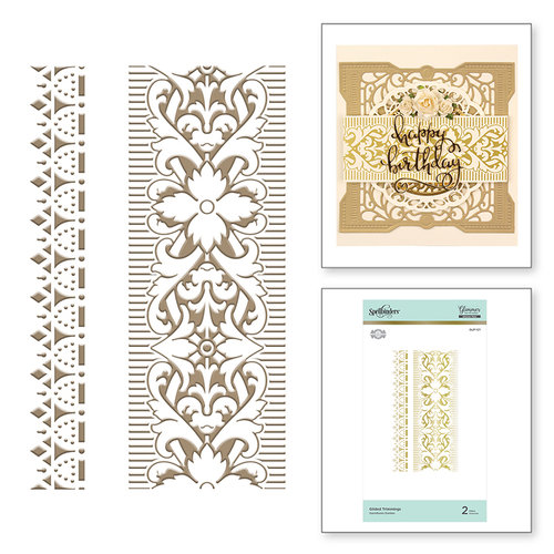 Spellbinders - The Gilded Age Collection - Glimmer Hot Foil - Glimmer Plate - Trimmings