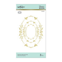 Spellbinders - Royal Flourish Collection - Glimmer Hot Foil - Glimmer Plate - Imperial Adorned Ovals