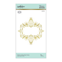 Spellbinders - Royal Flourish Collection - Glimmer Hot Foil - Glimmer Plate - Petite Looking Glass Frame