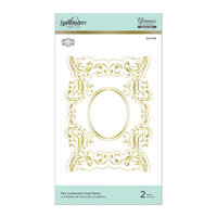 Spellbinders - Royal Flourish Collection - Glimmer Hot Foil - Glimmer Plate - The Contessas Seal Panel