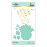Spellbinders - Glimmer Hot Foil - Glimmer Plate and Dies - Foliage Border