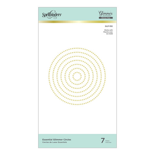 Spellbinders - Glimmer Hot Foil - Glimmer Plate - Essential Glimmer Circles