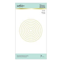 Spellbinders - Glimmer Hot Foil Collection - Glimmer Plate - Essential Glimmer Circles