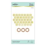 Spellbinders - Glimmer Hot Foil - Honeycomb Alphabet