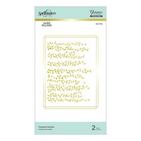 Spellbinders - Effortless Greetings Collection - Glimmer Hot Foil - Glimmer Plate - Framed Details