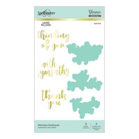 Spellbinders - Effortless Greetings Collection - Glimmer Hot Foil - Glimmer Plate and Dies - Effortless Sentiments