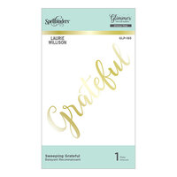 Spellbinders - Effortless Greetings Collection - Glimmer Hot Foil - Glimmer Plate - Sweeping Grateful