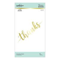 Spellbinders - Effortless Greetings Collection - Glimmer Hot Foil - Glimmer Plate - Sweeping Thanks