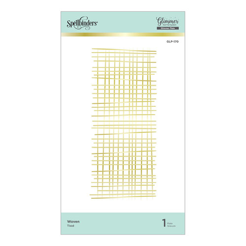 Spellbinders - Glimmer Hot Foil Collection - Glimmer Plate - Woven