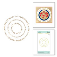 Spellbinders - Glimmer Hot Foil - Sparkling Christmas Collection - Glimmer Plate - Christmas Essential Glimmer Circles