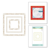 Spellbinders - Glimmer Hot Foil - Sparkling Christmas Collection - Glimmer Plate - Christmas Essential Glimmer Squares