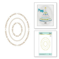 Spellbinders - Glimmer Hot Foil - Sparkling Christmas Collection - Glimmer Plate - Christmas Essential Glimmer Ovals