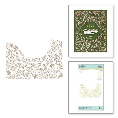 Spellbinders - Glimmer Hot Foil Collection - Glimmer Plate - Christmas Foliage Background