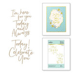 Spellbinders - Glimmer Hot Foil Collection - Stylish Script - Glimmer Plate - For You