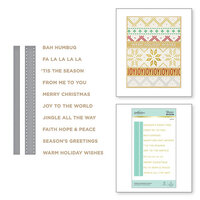 Spellbinders - Glimmer Hot Foil - Sparkling Christmas Collection - Glimmer Plate and Dies - Holiday Sentiments Series 2