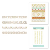 Spellbinders - Glimmer Hot Foil - Sparkling Christmas Collection - Glimmer Plate - Christmas Border Greetings