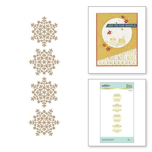 Spellbinders - Glimmer Hot Foil - Sparkling Christmas Collection - Glimmer Plate - Snowflake Sparkle Border