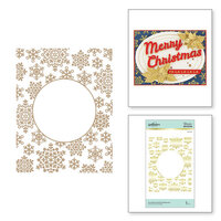 Spellbinders - Glimmer Hot Foil - Sparkling Christmas Collection - Glimmer Plate - Snowflake Sparkle Background