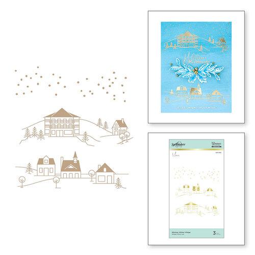 Spellbinders - Glimmer Hot Foil - Christmas - Glimmer Plate - Glimmer Winter Village