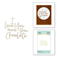 Spellbinders - Glimmer Hot Foil Collection - Stylish Script - Glimmer Plate - More Than Chocolate