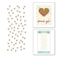 Spellbinders - Glimmer Hot Foil - Glimmer Plate - Scattered Hearts Background