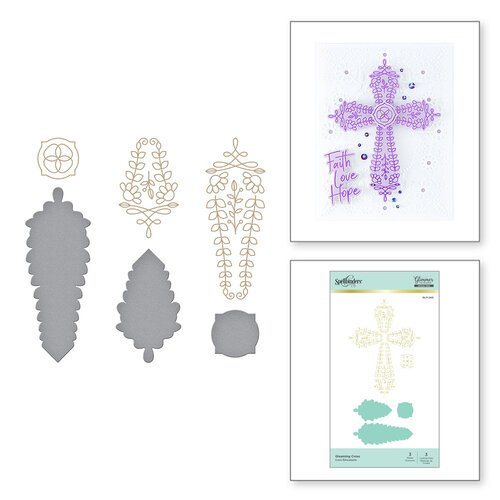 Spellbinders - Glimmer Hot Foil - Glimmer Plate and Dies - Gleaming Cross