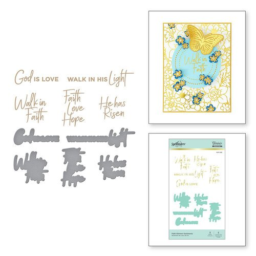 Spellbinders - Glimmer Hot Foil Collection - Glimmer Plate and Dies - Faith
