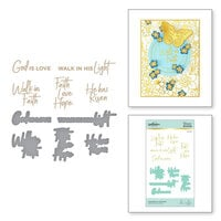 Spellbinders - Glimmer Hot Foil - Glimmer Plate and Dies - Faith