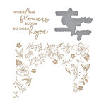 Spellbinders - Glimmer Hot Foil - Yana's Blooming Birthday Collection - Glimmer Plate and Dies - Blooming Floral Background