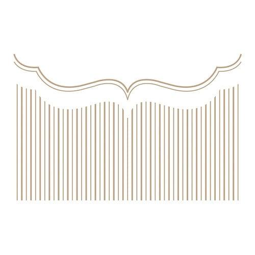 Spellbinders - Holiday Medley Collection - Glimmer Hot Foil - Glimmer Plate - Christmas - Pinstripe Bracket Card Builder