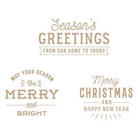 Spellbinders - Christmas Traditions Collection - Glimmer Hot Foil - Glimmer Plate - Essential Christmas Greetings