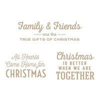Spellbinders - Glimmer Hot Foil - Be Merry Collection - Glimmer Plate - Gift of Christmas Sentiments