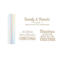 Spellbinders - Glimmer Hot Foil - Be Merry Collection - Glimmer Plate and Prism Foil Roll - Gifts of Christmas Sentiments Bundle