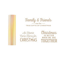 Spellbinders - Glimmer Hot Foil - Be Merry Collection - Glimmer Plate and Aura Foil Roll - Gifts of Christmas Sentiments Bundle