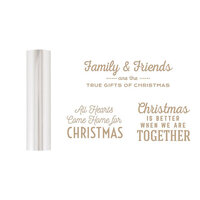 Spellbinders - Glimmer Hot Foil - Be Merry Collection - Glimmer Plate and Matte Silver Foil Roll - Gifts of Christmas Sentiments Bundle