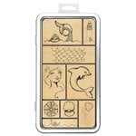 Spellbinders - Artomology Collection - Wood Mounted Rubber Stamps - Tin of Mermaids