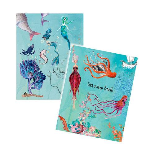 Spellbinders - Artomology Collection - Mixed Media - Washi Sheets - Mermaids