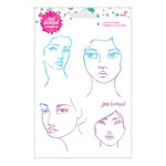 Spellbinders - ArtEssentials Collection - Clear Acrylic Stamps - Faces