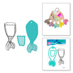 Spellbinders - Artomology Collection - Clear Acrylic Stamp and Die Set - Mermaid Tail Swatch
