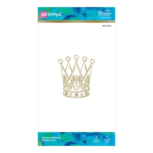 Spellbinders - Artomology Collection - Glimmer Hot Foil - Glimmer Plate - Crowned Royalty