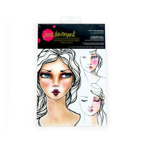 Spellbinders - Making Faces Collection - Paper Pad - Face Charts - I Came, I Saw, I Contoured