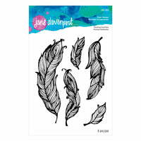 Spellbinders - Artomology Collection - Clear Acrylic Stamps - Floating Feathers