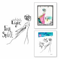 Spellbinders - Artomology Collection - Clear Acrylic Stamps - Free Spirit