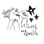 Spellbinders - Clear Acrylic Stamps - Unicorn Sparkle
