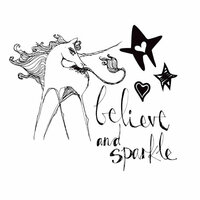 Spellbinders - Artomology Collection - Clear Acrylic Stamps - Unicorn Sparkle