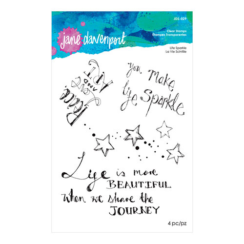 Spellbinders - Artomology Collection - Clear Acrylic Stamps - Life Sparkle
