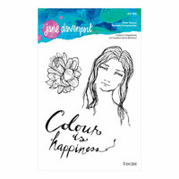 Spellbinders - Artomology Collection - Clear Acrylic Stamps - Colour is Happiness