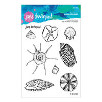 Spellbinders - Marvelous Mermaids Collection - Clear Acrylic Stamps - She Sells Seashells