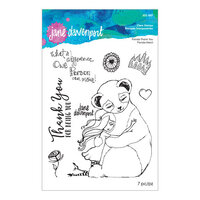 Spellbinders - Whimsical and Wild Collection - Clear Acrylic Stamps - Panda Thank You