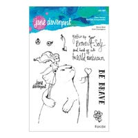 Spellbinders - Whimsical and Wild Collection - Clear Acrylic Stamps - Brave Bear